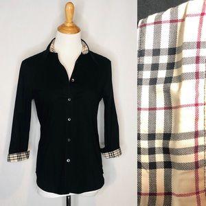 Burberry London Black Button Down Shirt med